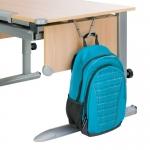 Γάντζος Στήριξης Σχολικής Τσάντας ασημί