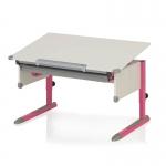 Παιδικό Γραφείο COLLEGE BOX II λευκό/ροζ