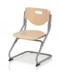Καρέκλα Γραφείου PLUS ασημί/οξιά